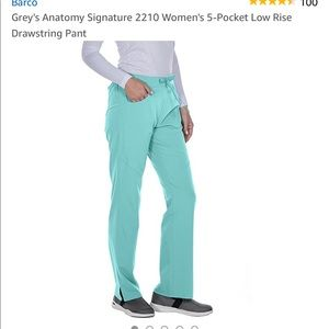 NWT Grey's Anatomy scrub pants color is Opal 😍